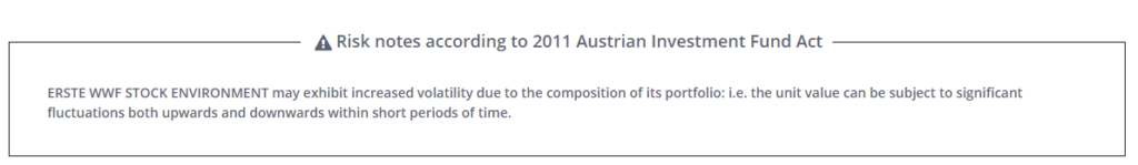 risk notices according to 2011 austrian investment fund act